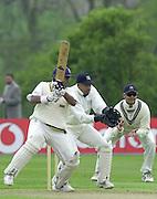 Shenley, Middlsex. ENGLAND, Sri Lanka Tour match.<br /> Photo Peter Spurrier<br /> 11/05/2002 Card - 1<br /> Sport - Cricket<br /> Middlesex CCC vs Sri Lankas - Shenley<br /> Gloves Alladayne                             [Mandatory Credit:Peter SPURRIER/Intersport Images]