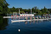Henley on Thames, England, United Kingdom, 3rd July 2019, Henley Royal Regatta  time trial, on Henley Reach, [© Peter SPURRIER/Intersport Image]<br /> <br /> 08:59:56 1919 - 2019, Royal Henley Peace Regatta Centenary,