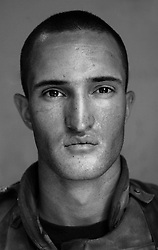 Lcpl. James Butson, 21, Big Run, Pennsylvania, 1st Platoon,  Kilo Co., 3rd Battalion 1st Marines, First Marine Division, Unites States Marine Corps, at the company's firm base in Hit, Iraq on Tuesday Sept. 20, 2005.