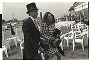 Ghislaine Maxwell, George Hamilton,, Derby 1991.