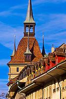 The Prison Tower (Kafigturm) on Barenplatz, Bern, Canton Bern, Switzerland