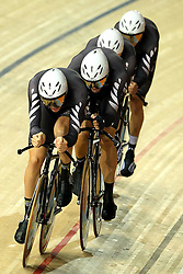 Sam Bewley, Marc Westley Gough, Marc Ryan and Jesse ser5gent of New Zealand during the men's team persuit final held at the velodrome at the Indira Gandhi Sports Complex in New Delhi, India on the 7 October 2010..Photo by:  Ron Gaunt/SPORTZPICS/PHOTOSPORT