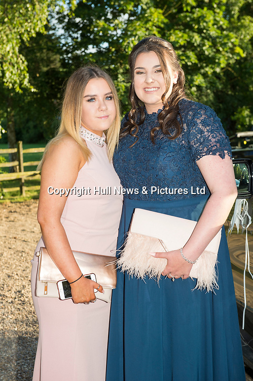 27 June 2019: Somercotes Academy Year 11 prom at the Brackenborough Hotel near Louth.<br /> (l-r) Ella March and Abbie Graves.<br /> Picture: Sean Spencer/Hull News & Pictures Ltd<br /> 01482 210267/07976 433960<br /> www.hullnews.co.uk         sean@hullnews.co.uk