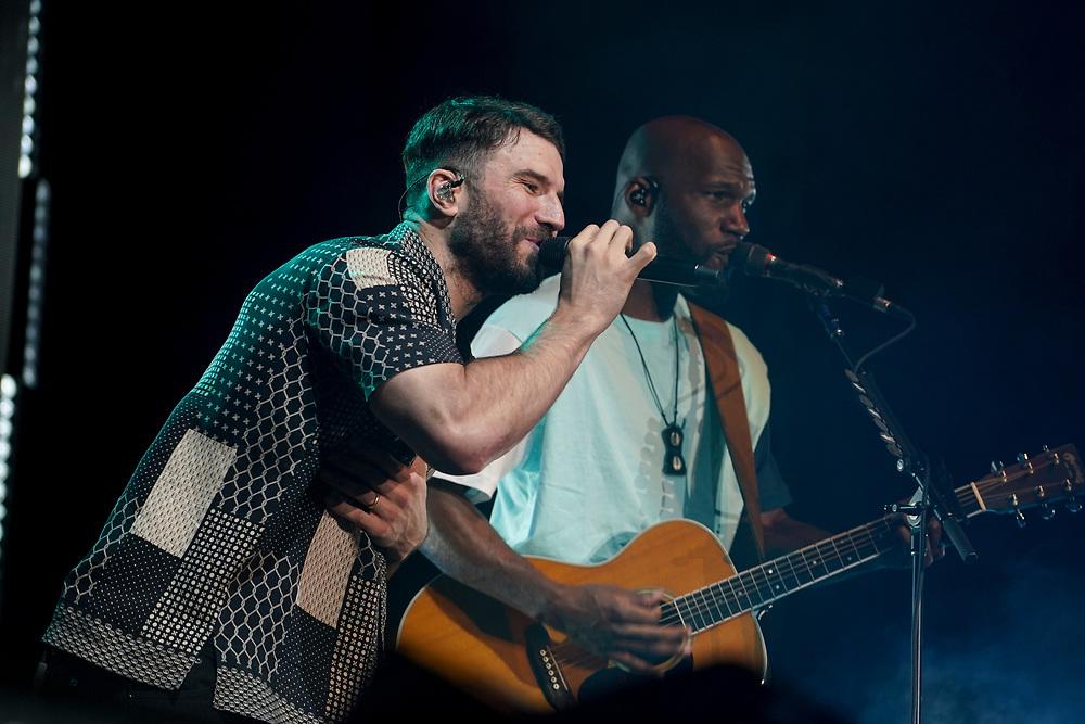 Sam Hunt performs Aug. 8, 2021, during Musikfest in Bethlehem, Pennsylvania.