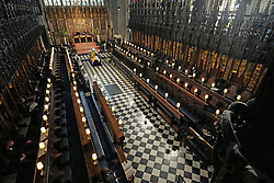 Members of the royal family during the funeral of the Duke of Edinburgh in St George's Chapel, Windsor Castle, Berkshire. Picture date: Saturday April 17, 2021.