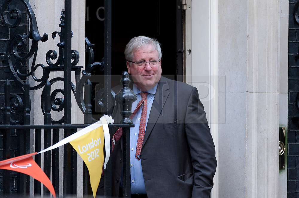 © Licensed to London News Pictures. 05/09/2012. LONDON, UK. Patrick McLoughlin, the Transport Secretary, arrives at Number 10 Downing Street today (05/09/12) for the first cabinet meeting after a shuffle that took place yesterday (04/09/12) . Photo credit: Matt Cetti-Roberts/LNP