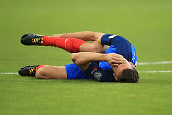 31 August 2017 -  FIFA World Cup Qualifying (Group A) - France v Netherlands - Laurent Koscielny of France reacts after picking up a knock to his ankle - Photo: Marc Atkins/Offside