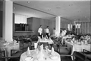 23/05/1963<br /> 05/23/1963<br /> 23 May 1963<br /> The Intercontinental Hotel, Dublin.<br /> Images of the recently opened Intercontinental hotel for the Cork Examiner. Image shows a section of the dining room.