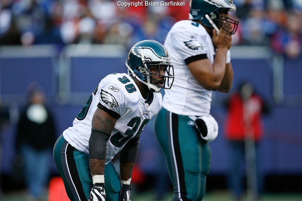 11 Jan 2009: Philadelphia Eagles running back Brian Westbrook #36 during the game against the New York Giants on January 11th, 2009.  The  Eagles won 23-11 at Giants Stadium in East Rutherford, New Jersey.