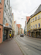 View along Pfarrle Strasse, Augsburg, Bavaria, Germany
