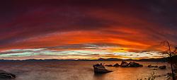 """Bonsai Rock Sunset 8"" - Sunset photograph of the famous Bonsai Rock, at Lake Tahoe."