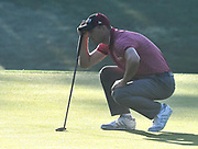 ST. LOUIS, MO - AUGUST 09: Rich Been lines up a put on the #10 green during the first round of the PGA Championship on August 09, 2018, at Bellerive Country Club, St. Louis, MO.  (Photo by Keith Gillett/Icon Sportswire)