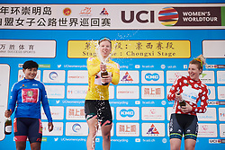 Lorena Wiebes (NED) celebrates at Tour of Chongming Island 2019 - Stage 1, a 102.7 km road race on Chongming Island, China on May 9, 2019. Photo by Sean Robinson/velofocus.com