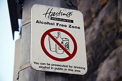 Alcohol free zone in Hastings,
