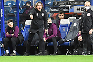 Brentford Manager Thomas Frank in the technical area during the EFL Sky Bet Championship match between Queens Park Rangers and Brentford at the Kiyan Prince Foundation Stadium, London, England on 17 February 2021.