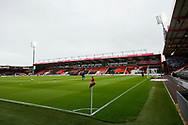 General view inside the Vitality Stadium ahead of the EFL Sky Bet Championship match between Bournemouth and Stoke City at the Vitality Stadium, Bournemouth, England on 8 May 2021.