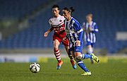 Brighton and Hove Albion Women's defender Sophie Perry during the FA Women's Premier League match between Brighton Ladies and Charlton Athletic WFC at the American Express Community Stadium, Brighton and Hove, England on 6 December 2015.