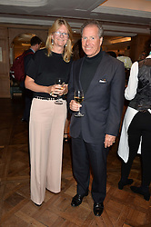 KATE HOBHOUSE chairman of Fortnum & Mason and VISCOUNT LINLEY at a the Fortnum's X Frank private view - an instore exhibition of over 60 works from Frank Cohen's collection at Fortnum & Mason, 181 Piccadilly, London on 12th September 2016.