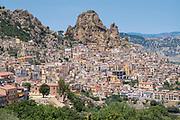 Ancient hill town of Gagliano Castelferrato in Northern Sicily, Italy