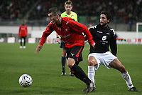 Fotball<br /> Frankrike<br /> Foto: Dppi/Digitalsport<br /> NORWAY ONLY<br /> <br /> FOOTBALL - UEFA CUP 2007/2008 - GROUP STAGE - GROUP D - STADE RENNAIS v BRANN BERGEN - 08/11/2007 - JEROME LEROY (REN) / HASSAN EL FAKIRI (BER)<br /> Rennes