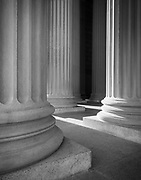 Columns at the entrance to the National Archives in Washington, DC