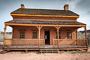 "Alonzo Russell adobe house (featured in the film ""Butch Cassidy and the Sundance Kid""), Grafton ghost town, Utah USA"