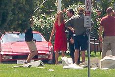 Jennifer Aniston and Adam Sendler on set in Como town - 11 Aug 2018