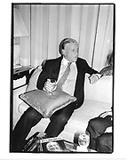"""Ben Bradlee at a party for his book """"A Good Life"""" hosted by toni and Jim Goodale. 25 Sept. 1995. © Copyright Photograph by Dafydd Jones 66 Stockwell Park Rd. London SW9 0DA Tel 020 7733 0108 www.dafjones.com"""
