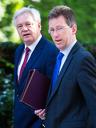 London, July 4th 2017. Secretary of State for Exiting the European Union David Davis and Attorney General Jeremy Wright attend the weekly cabinet meeting at 10 Downing Street in London.
