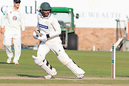 Hassan Azad batting  during the Specsavers County Champ Div 2 match between Durham County Cricket Club and Leicestershire County Cricket Club at the Emirates Durham ICG Ground, Chester-le-Street, United Kingdom on 19 August 2019.