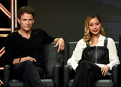BEVERLY HILLS - AUGUST 8: Cast members Stephen Moyer, Jamie Chung onstage during the panel for 'The Gifted' at the FOX portion of the 2017 Summer TCA press tour at the Beverly Hilton on August 8, 2017 in Beverly Hills, California. (Photo by Frank Micelotta/Fox/PictureGroup) *** Please Use Credit from Credit Field ***