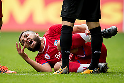 Zakaria Labyad of FC Utrecht nearly died, but recovered instantly, a miracle during the Dutch Eredivisie match between Vitesse Arnhem and FC Utrecht at Gelredome on October 01, 2017 in Arnhem, The Netherlands