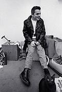 Ian Dury backstage 1979
