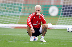 CARDIFF, WALES - Saturday, June 4, 2016: Wales' Aaron Ramsey during a training session at the Vale Resort Hotel ahead of the International Friendly match against Sweden. (Pic by David Rawcliffe/Propaganda)