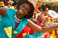 Photo: Steve Bond/Richard Lane Photography.<br />Ghana v Cameroon. Africa Cup of Nations. 07/02/2008. Cameroon colour