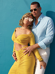 """Newly-engaged power couple Jennifer Lopez and Alex Rodriguez are starring in their first major campaign together — fronting Quay Australia's new sunglasses collection. The duo dazzle in the campaign, wearing a variety of shades and with J-Lo showing off her stunning figure in an array of sexy outfits. The pair, who announced their engagement last month, pose together as well as in solo mode for the shoot, which took place in Miami. In one frame, J-Lo, 49, shows off her taut tummy in a pair of high-waisted white pants teamed with a boob tube and tuxedo jacket which striking a sultry poses with her hand touching her sunglasses. In another snap, Lopez shows off her bodywork while leaning against a car while donning a plunging glittery dress. Other photographs from the campaign show the duo posing together, with Jen cutting the mustard in one frame in a cutaway yellow dress. Speaking of the collaboration with the brand — which offers sunglasses for men and women priced between $50 and $60 — Lopez said: """"Quay Australia has been one of my go-to brands ever since I first discovered them a few years ago. """"I fell in love with them, and I've worn them regularly since. When the opportunity to team up was presented, it felt so fitting. Getting to do this with Alex was a big bonus too. He loves sunglasses as much as I do."""" Former New York Yankees star Rodriguez, 43, added: """"It was really special to be able to shoot in Miami with Jennifer, she was the one who introduced me to Quay Australia. """"I've never had a pair of sunglasses that fit so well and the fact that you can get high quality, polarized sunglasses for $50 is pretty great."""" The QUAY X JLO range is comprised of 6 styles with multiple colorways, featuring luxe metal accents, oversized shapes, and flashy lens finishes. The women's line offers a variety of different shapes and sizes, including a new twist on classic aviators, flirty cat eyes, and statement shields, retailing for $60 USD each. The Q"""