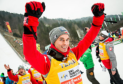 Piotr Zyla (POL) celebrates after the Ski Flying Hill Men's Individual Competition at Day 4 of FIS Ski Jumping World Cup Final 2017, on March 26, 2017 in Planica, Slovenia. Photo by Vid Ponikvar / Sportida