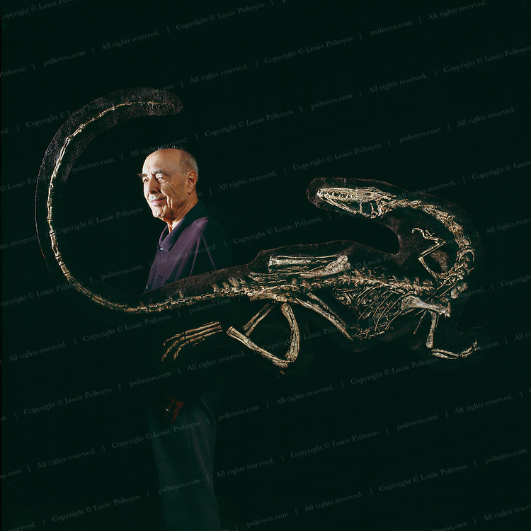 Edwin Colbert, former chairman of the Department of Paleontology at the American Museum of Natural History rediscovered Coelophysis at Ghost Ranch in 1947.  Baby Coelophysis is in this specimen's stomach.