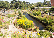 River Bourne in Lower Gardens, Bourne Valley Greenway, Bournemouth, Dorset, England, UK