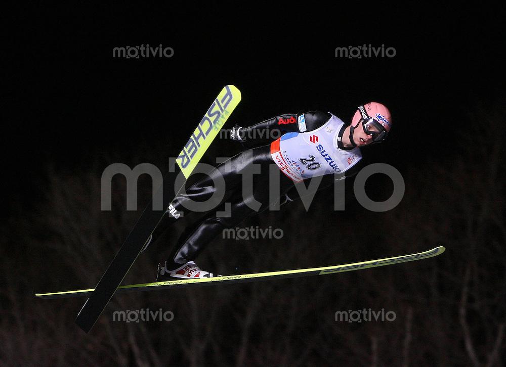Sapporo , 240207 , Nordische Ski Weltmeisterschaft  Skispringen Grosschanze ,  Sebastian COLLOREDO (ITA)