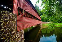 Sachs Bridge, is a 100-foot, Town truss covered bridge over Marsh Creek between Cumberland and Freedom Townships, Adams County in the U.S. state of Pennsylvania.