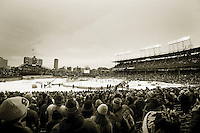 1 January 2009:  New Years Day 2009 NHL Winter Classic at Wrigley Field in Chicago, IL.  The National Hockey League placed a full NHL size ice rink between first and third bases on the infield inside MLB home of the Chicago Cubs.  The Visiting Detroit Red Wings defeated the Home Chicago Blackhawks 6-4 infront of a sold out crowd of over 40,000 fans on the first day of 2009.  A fans perspective of the event.