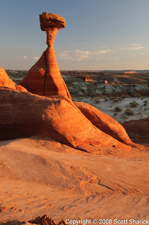 A picture of an interesting rock formation at sunset in southern Utah. Missoula Photographer