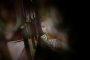 A Christian refugee child at YMCA relief comittee in Orissa's capital Bhubaneswar. .Nov. 04, 2008.