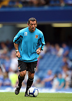 Hull boss Phil Brown joins in the pre match warm up. Perhaps he might pick himself next week!<br /> F.A. Barclaycard Premiership. Chelsea v Hull. 15.08.09<br /> Pic By Karl Winter Fotosports International