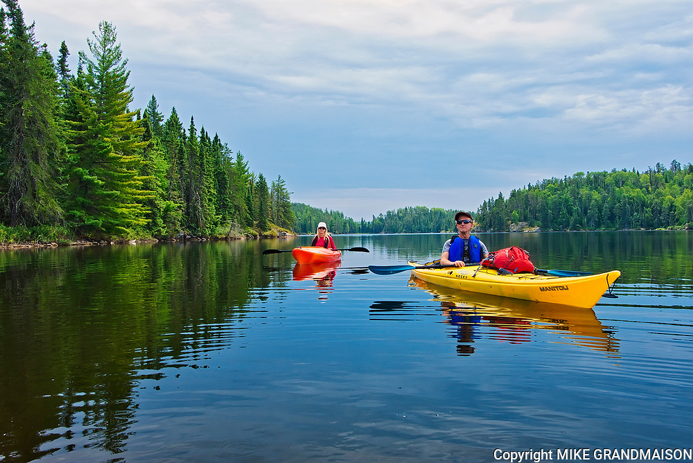 Kayaks on Blindfold Lake<br />Kenora DIstrict<br />Ontario<br />Canada