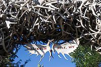 Elk antler arches on Jackson Town Square