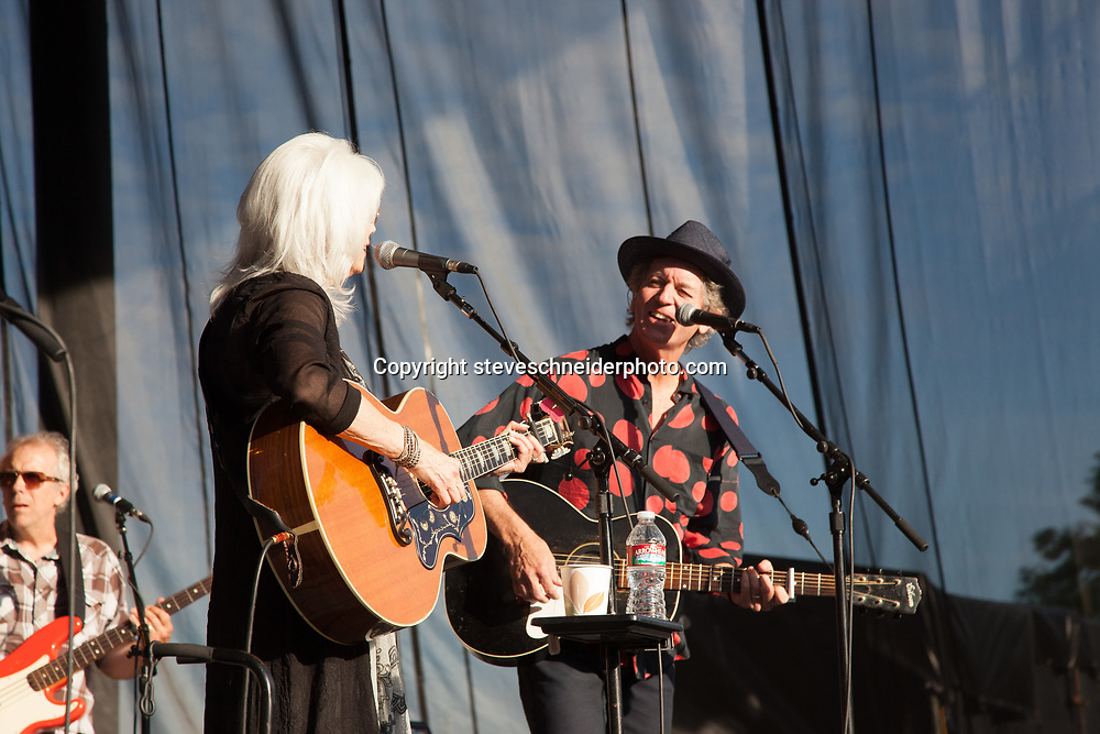 Emmylou Harris and Rodney Crowell play at Chateau Ste. Michelle, Woodinville, WA on 6-22-2014.  The opened up for Merle Haggard.