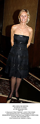 MRS CAROLYNE WATERS at a dinner in London on 12th November 2003.<br /> POL 19