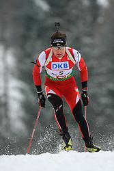 Simon Eder (AUT) at Men 20 km Individual at E.ON Ruhrgas IBU World Cup Biathlon in Hochfilzen (replacement Pokljuka), on December 18, 2008, in Hochfilzen, Austria. (Photo by Vid Ponikvar / Sportida)